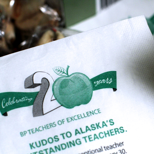 BP Teachers of Excellence Napkin